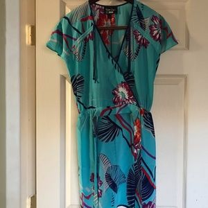 Yumi Kim 100% silk silk wrap dress small